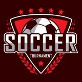 Fußballlogo, Amerika-Logo, klassisches Logo Stockbilder