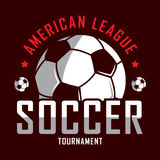 Fußballlogo, Amerika-Logo, klassisches Logo Lizenzfreies Stockfoto
