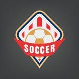 Fußballlogodesign Lizenzfreie Stockbilder