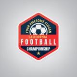Fußballlogodesign Lizenzfreies Stockbild