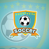 Fußballlogoschablone Lizenzfreies Stockfoto