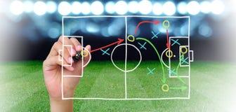 Fußballmanager lizenzfreie stockbilder