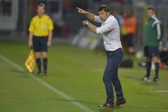 Fußballmanager - Daniel Isaila Stockfotos