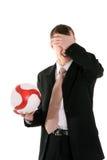Fußballmanagerdurcheinander Stockfotos
