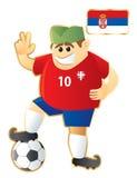 Fußballmaskottchen Serbien Stockbild