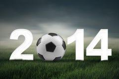 Fußballmeisterschaft von Konzept 2014 Stockfotografie