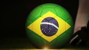 Fußballmontageanzeige für Brasilien stock video