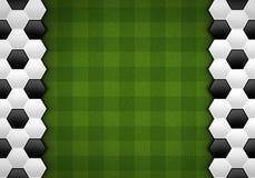 Fußballmuster auf grünem Muster Vektor Abbildung
