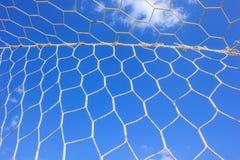 Fußballnetz Stockfotografie