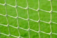 Fußballnetz Lizenzfreies Stockfoto