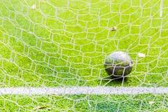 Fußballnetz, Fußballziel Lizenzfreies Stockfoto