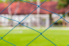 Fußballnetz, Fußballziel Lizenzfreie Stockbilder
