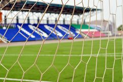 Fußballnetz, Nahaufnahme Lizenzfreie Stockbilder