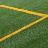 Fußballnickenzeile Markierungen Stockfoto