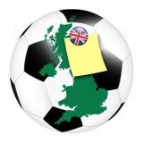 Fußballnotiz - Großbritannien stockfotografie