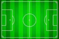 Fußballplatz als Schablone für Fußball lizenzfreie abbildung