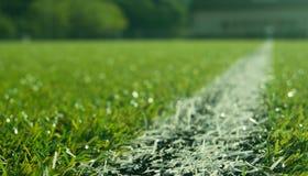 Fußballplatz blury Lizenzfreie Stockbilder