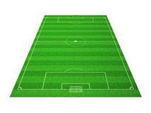 Fußballplatz getrennt auf Weiß Stockbild