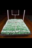 Fußballplatz-Kuchen Stockfoto