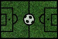 Fußballplatz mit Ball Lizenzfreies Stockbild
