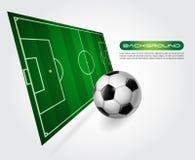 Fußballplatz mit Kugel -   Lizenzfreies Stockbild