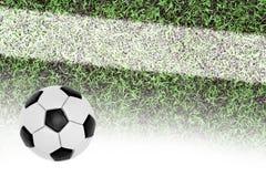 Fußballplatz und der Ball Stockfoto