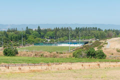 Fußballplatz und Park Lizenzfreies Stockbild