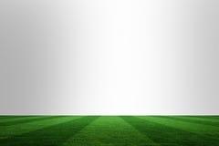 Fußballplatz unter Chrom lizenzfreie abbildung