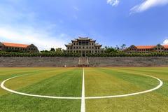 Fußballplatz von Xiamen-Universität Stockbild