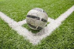 Fußballplatzecke stockbild