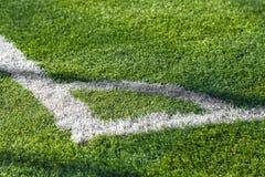 Fußballplatzecke Stockbilder