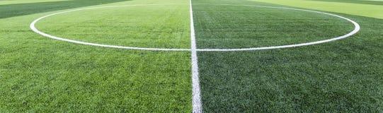 Fußballplatzgras Stockfotografie