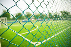 Fußballplatzgras stockbilder