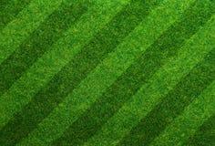 Fußballplatzhintergrund des grünen Grases Stockfotos
