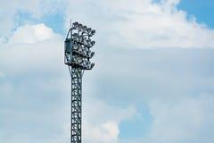 Fußballplatzlicht Lizenzfreie Stockfotografie