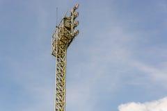 Fußballplatzlicht Stockbilder