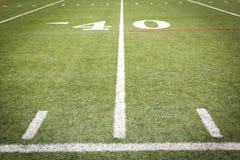 Fußballplatzmarkierungen Stockbilder