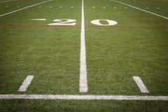 Fußballplatzmarkierungen Stockbild