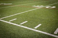 Fußballplatzmarkierungen Stockfoto