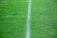 Fußballplatzzeile Lizenzfreie Stockfotografie