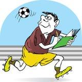 Fußballreferentsätze in einem Notizbuchflug von t lizenzfreie abbildung