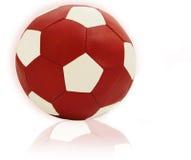 Fußballrotkugel Lizenzfreie Stockbilder