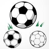 Fußballsatz lizenzfreie abbildung