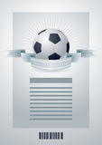 Fußballschablone. Lizenzfreie Stockfotografie