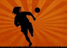 Fußballschattenbild stock abbildung