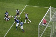 Fußballspiel Stockfotografie
