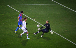 Fußballspiel-Arsenal gegen Dynamo Kyiv Lizenzfreie Stockfotos