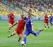 Fußballspiel-Dynamo Kyiv gegen Metalurh Zaporizhya Lizenzfreie Stockfotos