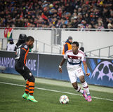 Fußballspiel Shakhtar Donetsk gegen Bayern Munich Lizenzfreie Stockfotos