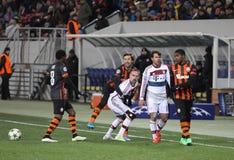 Fußballspiel Shakhtar Donetsk gegen Bayern Munich Stockfotos